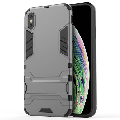 Slim Armour Tough Shockproof Case for Apple iPhone Xs Max - Grey